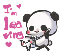 The soliloquy of a panda for English sticker #2489108