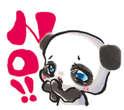 The soliloquy of a panda for English sticker #2489111
