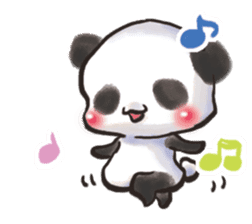 The soliloquy of a panda for English sticker #2489116