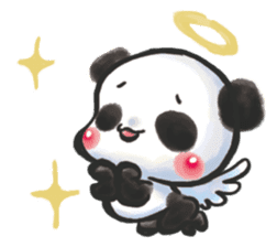 The soliloquy of a panda for English sticker #2489120