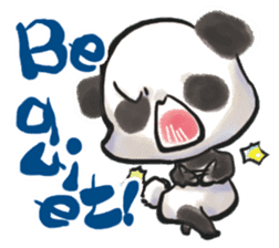 The soliloquy of a panda for English sticker #2489121