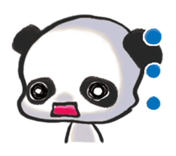 The soliloquy of a panda for English sticker #2489122