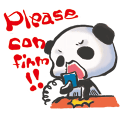 The soliloquy of a panda for English sticker #2489126