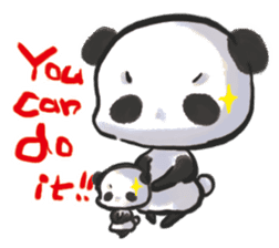 The soliloquy of a panda for English sticker #2489139