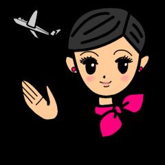Cabin attendant girl