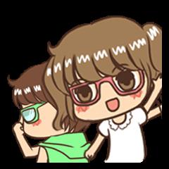 Twin Glasses Girl