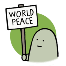 Lard Wants World Peace! sticker #2523849