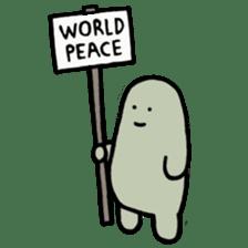 Lard Wants World Peace! sticker #2523884