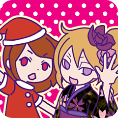 Xmas & Happy New Year Sticker