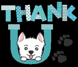 West Highland White Terrier.part 2 sticker #2526365