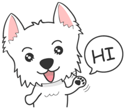 West Highland White Terrier.part 2 sticker #2526366
