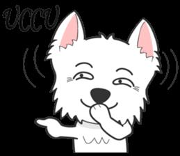 West Highland White Terrier.part 2 sticker #2526369