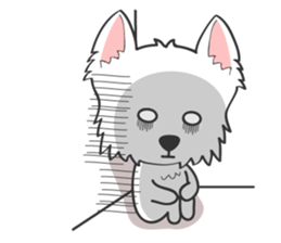 West Highland White Terrier.part 2 sticker #2526378
