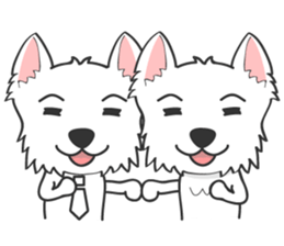 West Highland White Terrier.part 2 sticker #2526381