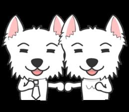 West Highland White Terrier.part 2 sticker #2526381