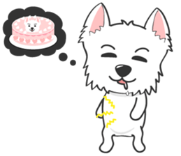 West Highland White Terrier.part 2 sticker #2526382