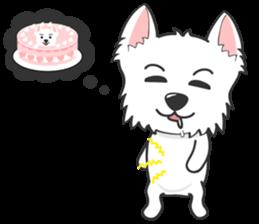West Highland White Terrier.part 2 sticker #2526382