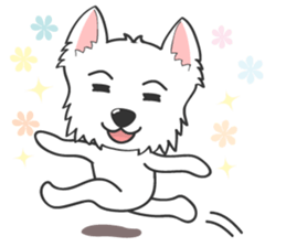 West Highland White Terrier.part 2 sticker #2526384