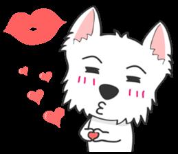 West Highland White Terrier.part 2 sticker #2526386