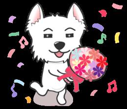 West Highland White Terrier.part 2 sticker #2526387