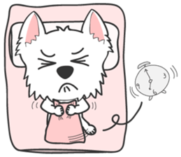 West Highland White Terrier.part 2 sticker #2526392