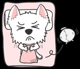 West Highland White Terrier.part 2 sticker #2526392
