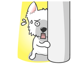 West Highland White Terrier.part 2 sticker #2526393