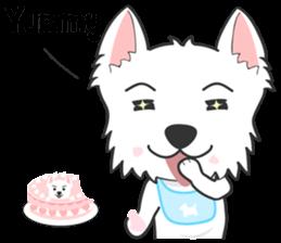 West Highland White Terrier.part 2 sticker #2526401