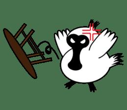 PumPum , the fat Black-faced Spoonbill sticker #2532893