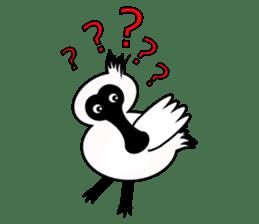 PumPum , the fat Black-faced Spoonbill sticker #2532895
