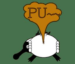 PumPum , the fat Black-faced Spoonbill sticker #2532905