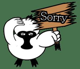 PumPum , the fat Black-faced Spoonbill sticker #2532906