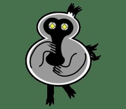 PumPum , the fat Black-faced Spoonbill sticker #2532911