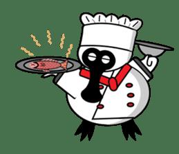 PumPum , the fat Black-faced Spoonbill sticker #2532929