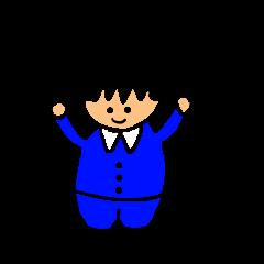 Salaryman-style boy (Kansai dialect)