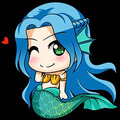 Naoki, little cute mermaid girl