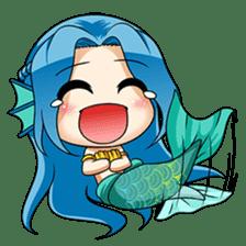 Naoki, little cute mermaid girl sticker #2544584