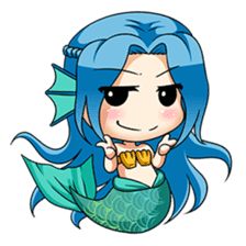 Naoki, little cute mermaid girl sticker #2544586
