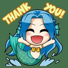 Naoki, little cute mermaid girl sticker #2544588