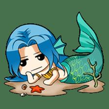 Naoki, little cute mermaid girl sticker #2544592