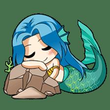 Naoki, little cute mermaid girl sticker #2544593