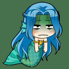 Naoki, little cute mermaid girl sticker #2544594