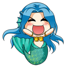 Naoki, little cute mermaid girl sticker #2544596