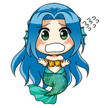 Naoki, little cute mermaid girl sticker #2544599