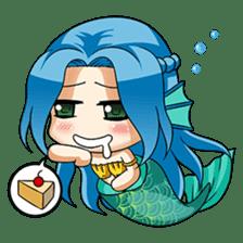 Naoki, little cute mermaid girl sticker #2544600