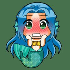 Naoki, little cute mermaid girl sticker #2544603