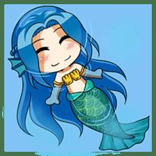 Naoki, little cute mermaid girl sticker #2544607