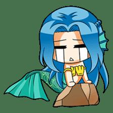 Naoki, little cute mermaid girl sticker #2544609