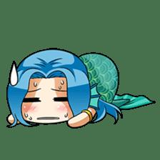 Naoki, little cute mermaid girl sticker #2544611