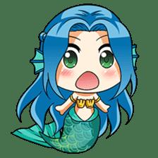 Naoki, little cute mermaid girl sticker #2544612